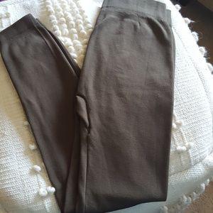Aura Via Fleece Lined Olive Leggings